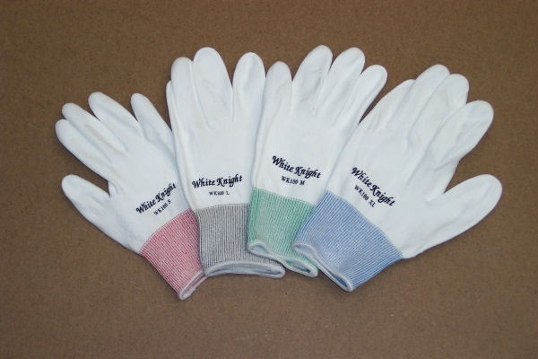 EN 388 Cut Level 3 and 5 White Knight Cut Resistant Gloves